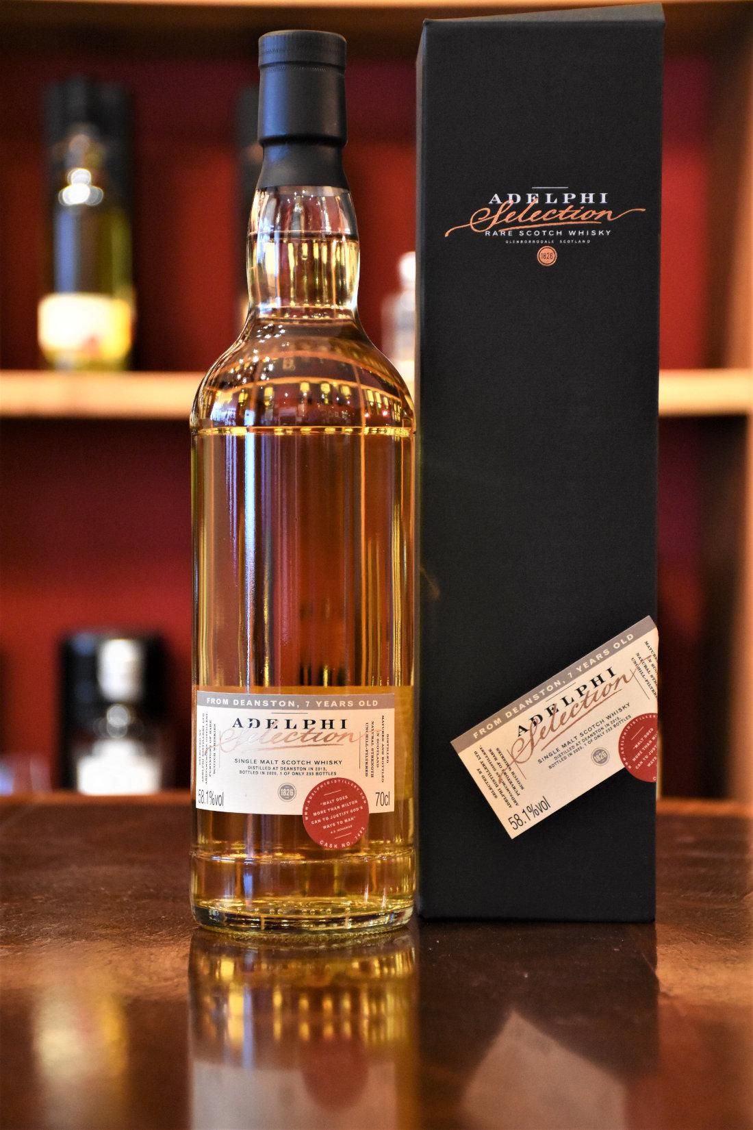 Deanston 2013, 7 y.o., First Fill Bourbon Barrel, Fass Nr. 7402, 58,1% Alc.Vol., Adelphi