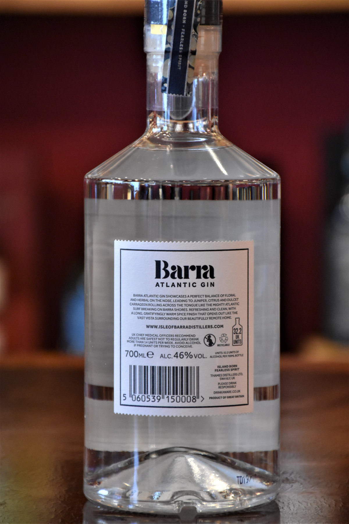 Barra Atlantic Gin, Isle of Barra Distillers- Orignal Bottling, 46% Alc.Vol.