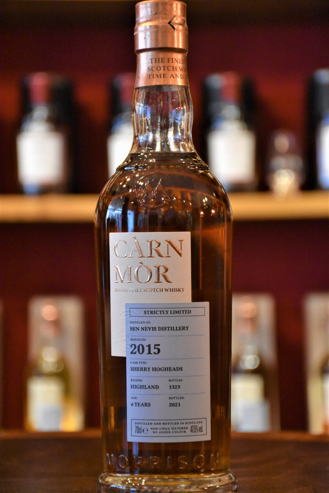 Ben Nevis 2015, Sherry Hogshead (Peated) - Strictly Limited Edition, 47,5% Alc.Vol., Carn Mor
