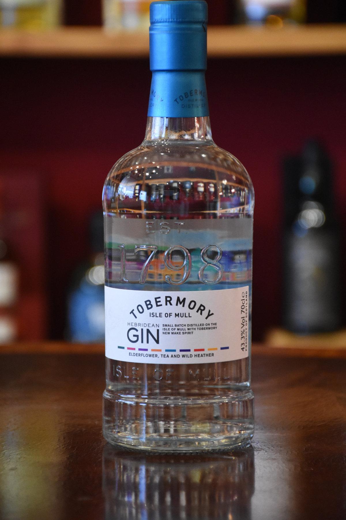 Tobermory Gin, Original Bottling Tobermory Distillery, Isle of Mull, Scotland, 43,3% Alc. Vol.
