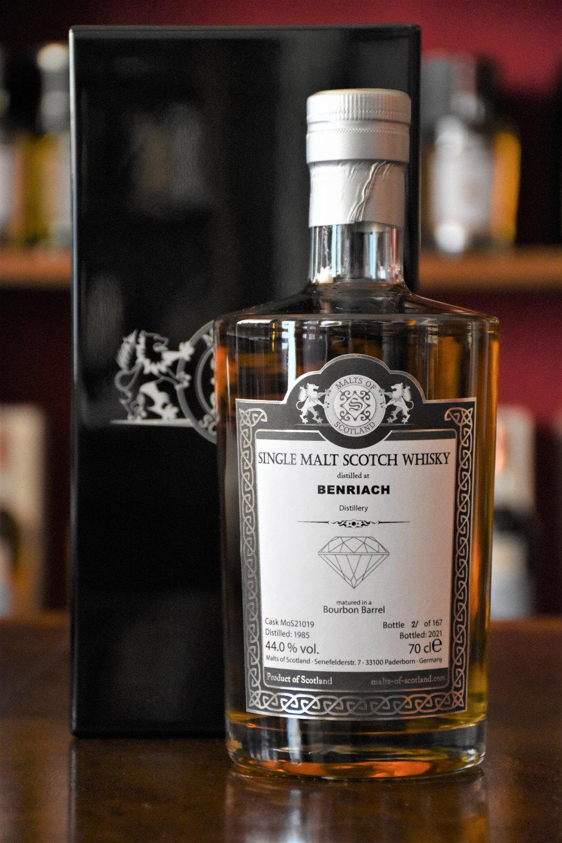 Benriach 1985 - Warehouse Diamond - Bourbon Barrel, Cask No. MoS21019, 44% Alc.Vol., Malts of Scotland