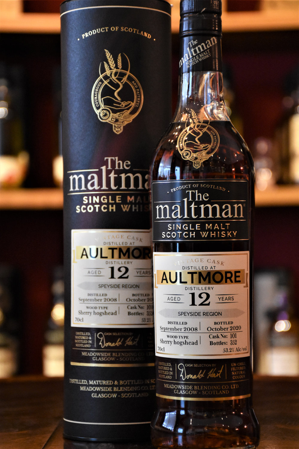 Aultmore, 2008, 12 y.o., Sherry Hogshead, 53,2 %, The Maltman