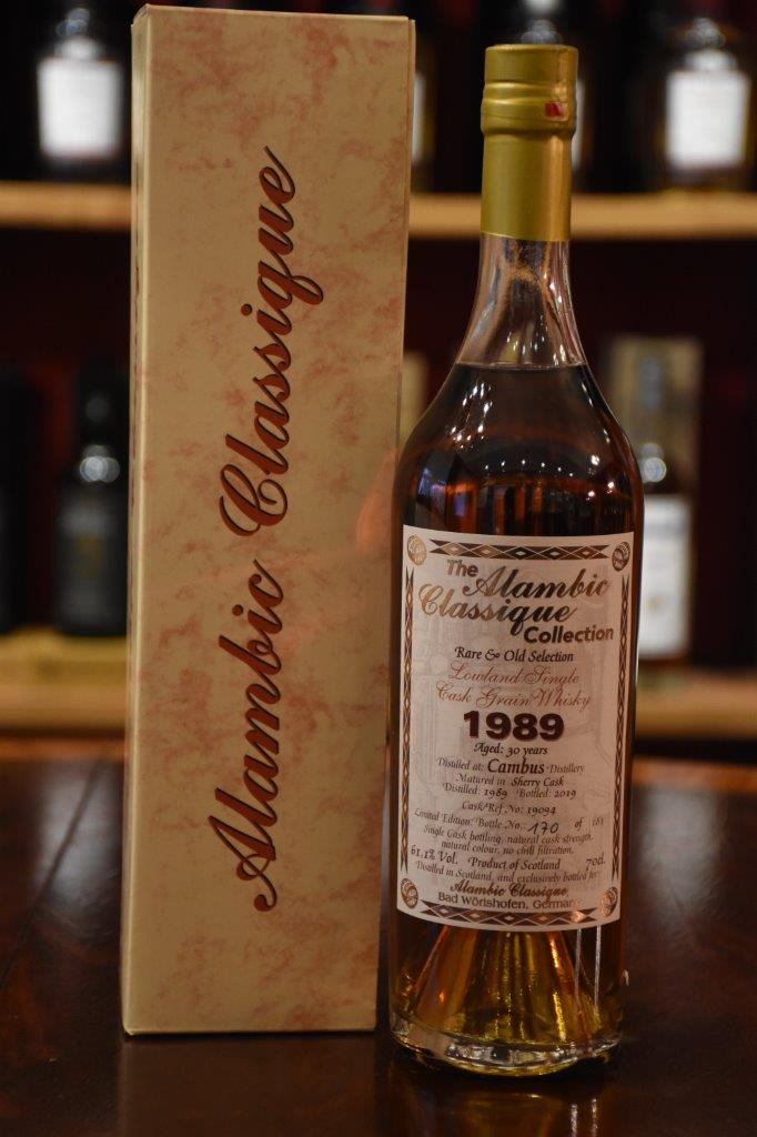 Cambus 1989, 30 y.o., Rare & Old Selection, Sherry Cask, 61,1% Alc.Vol., Alambic