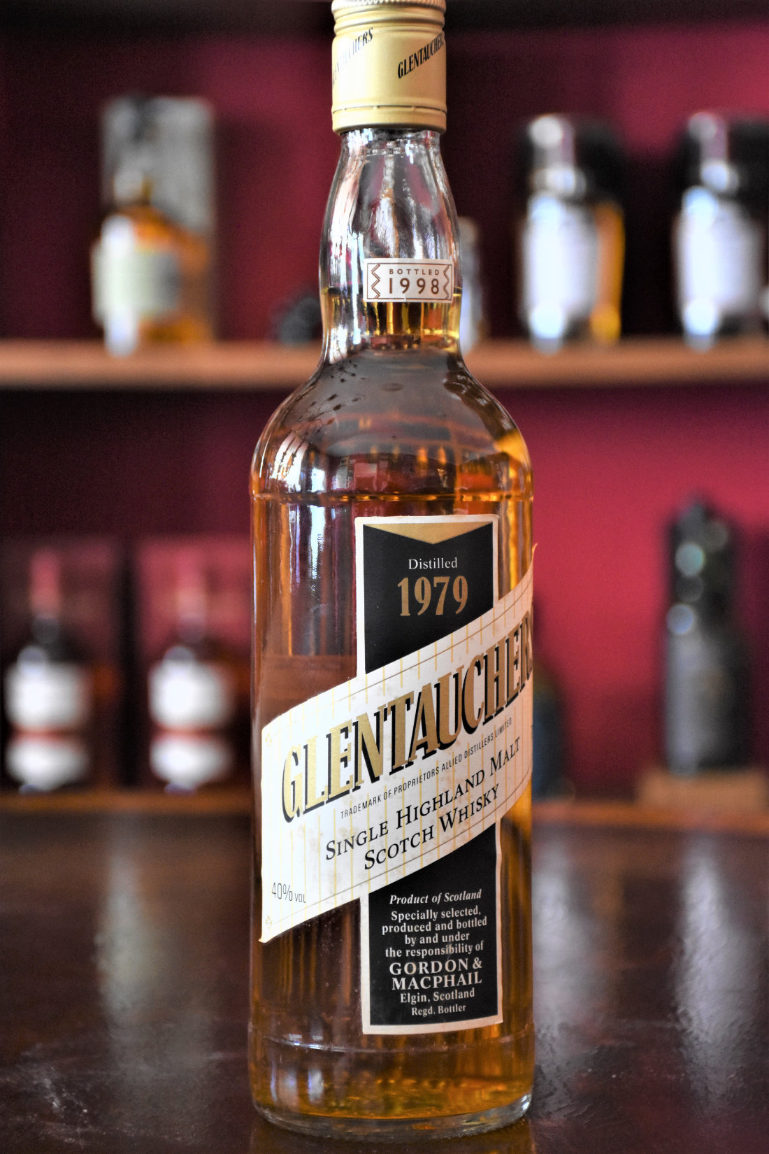 Glentauchers 1979 - Bottled 1998, Speyside, 40% Alc.Vol.,  Gordon & MacPhail