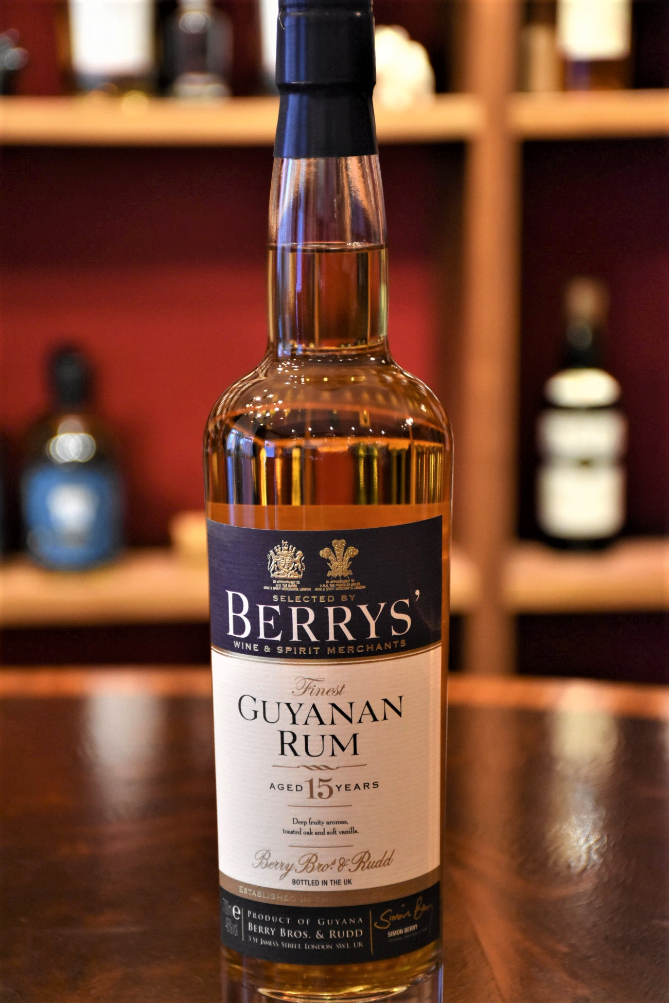 Berry´s Guyanan Rum 15 y.o., 46% Alc.Vol., Berry Bros.&Rudd