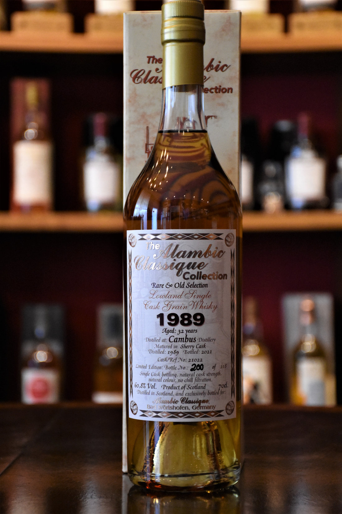 Cambus 1989, 32 y.o. - Rare & Old Selection, Sherry Cask, Fass Nr. 21022, 60,8% Alc.Vol., Alambic
