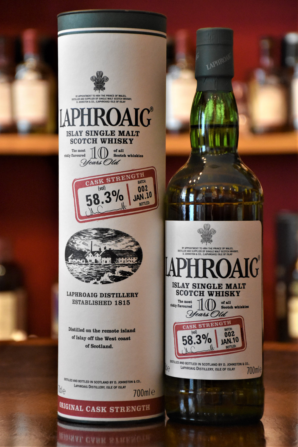 Laphroaig 10 yo Cask Strength Batch No. 002, Jan. 2010, 58,3% Alc.Vol., Distillery Original Bottling