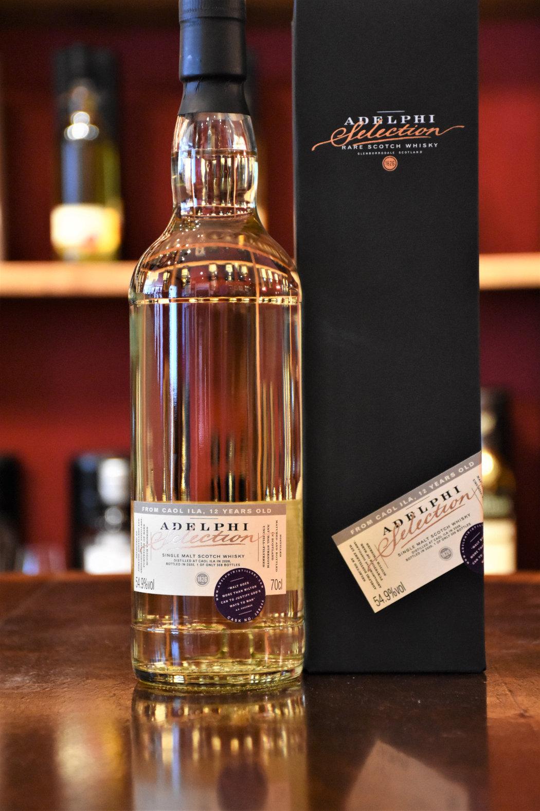 Caol Ila 2008, 12 y.o. - Refill Bourbon Barrel, Fass Nr. 309444, 54,9% Alc.Vol., Adelphi