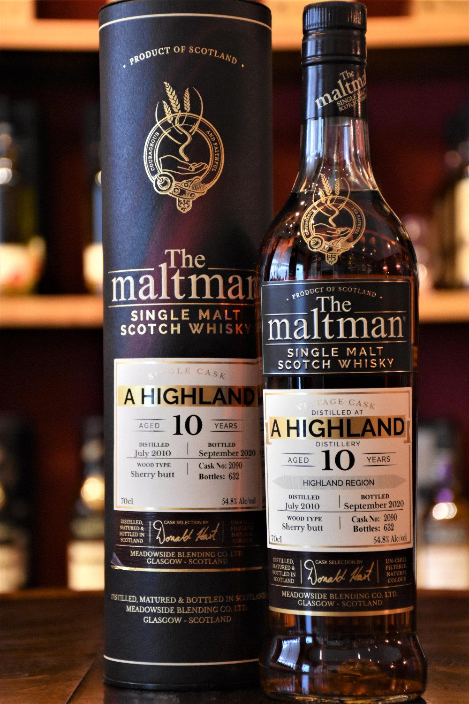 A Highland Distillery 2010, 10 y.o., Sherry Butt, 54,8 %, The Maltman