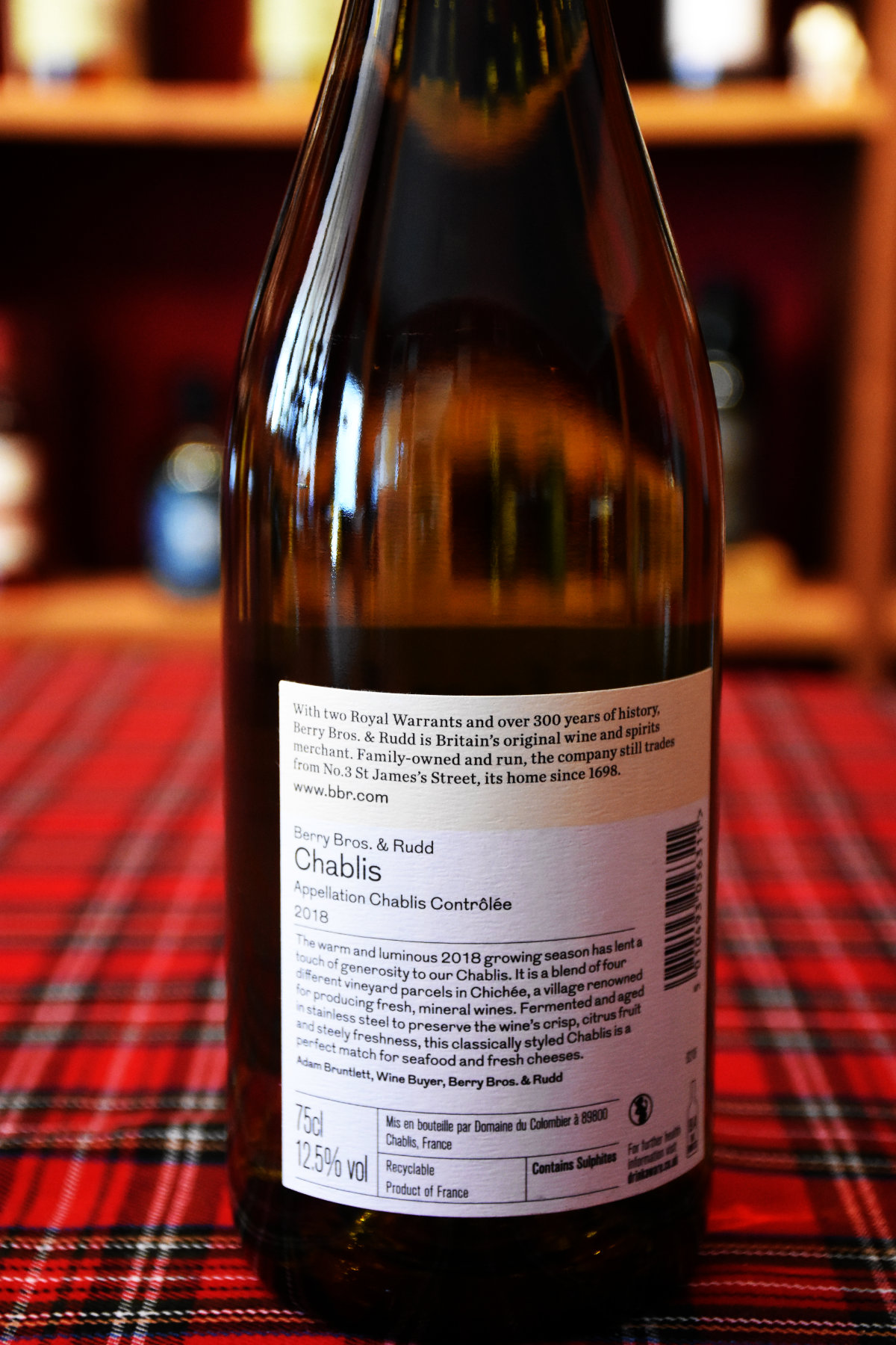 Berry Bros. & Rudd Chablis by Domaine de Colombier, 2018, 12, 5 %