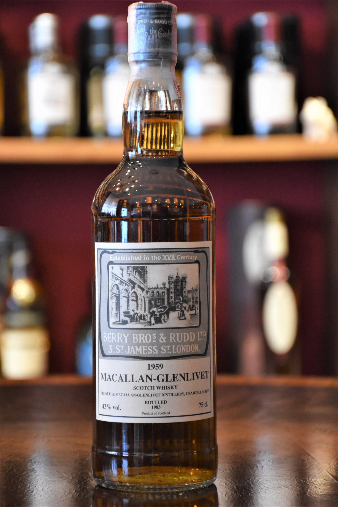 Macallan 1959 Old Bond Street Label Absolute Rarität! 43% Alc. Vol., Berry Bros.& Rudd
