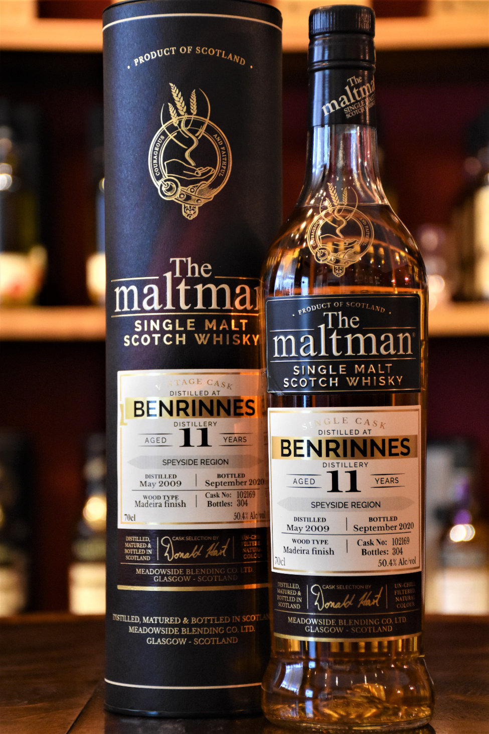 Benrinnes 2009, 11 y.o., Madeira Finish, 50,4 %, The Maltman