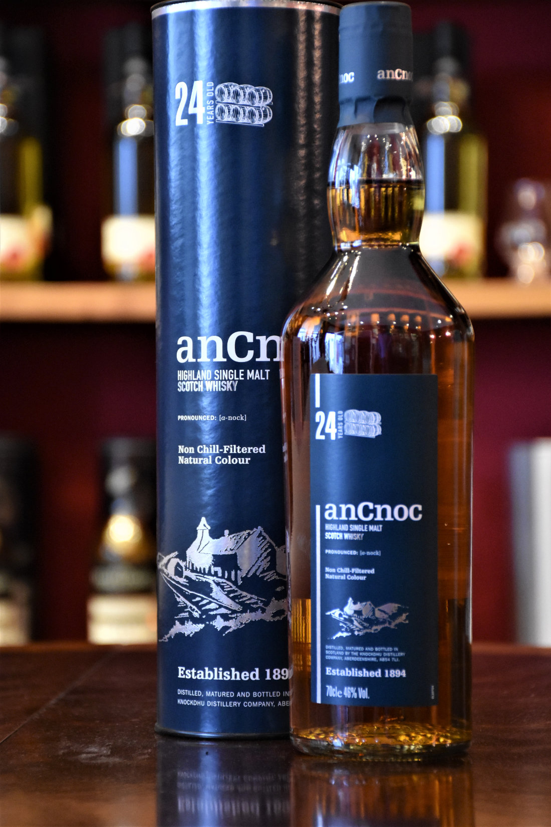 AnCnoc 24 y.o., , 46% Alc.Vol., Original Bottling, Knockdhu
