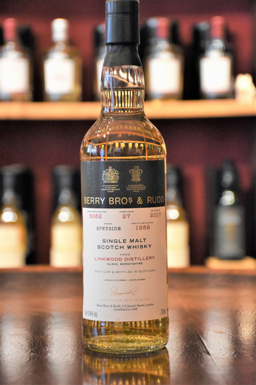 Linkwood 1989, 27 y.o. - Cask No. 5062, 43,4% Alc.Vol., Berry Bros. & Rudd