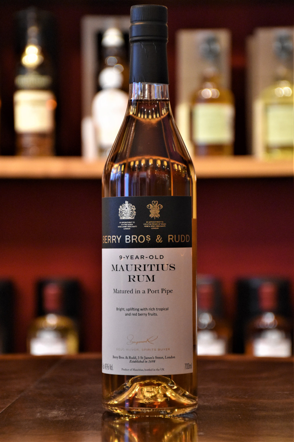 Mauritius 2010, 10 y.o. - Batch No. 1, Port Pipe, 46% Alc.Vol., Berry Bros.&Rudd