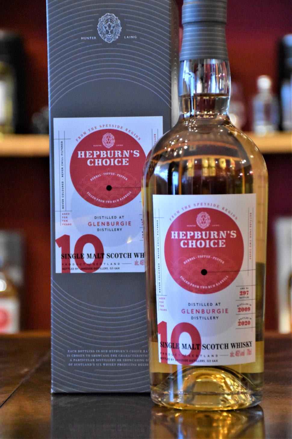 Glenburgie 2009, 10 y.o. - Rum Finish, 46% Alc.Vol., Hepburn´s Choice