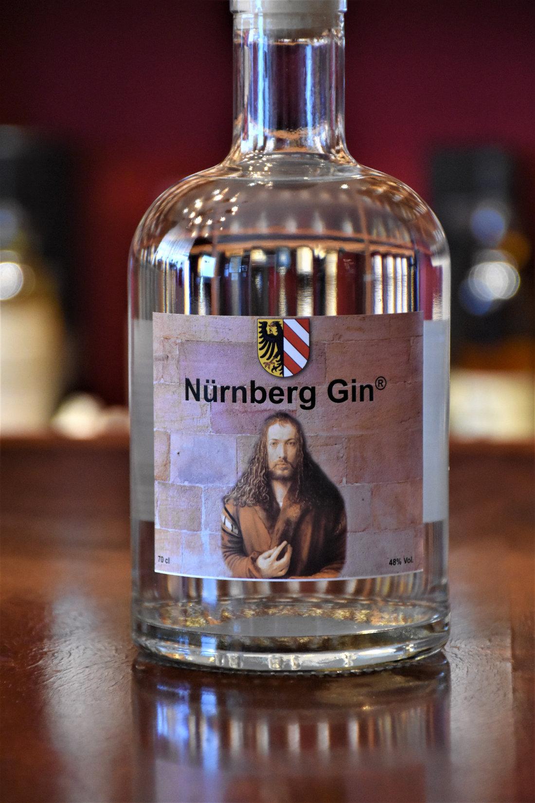 Nürnberg Gin,  Los 1/2020, 48% Alc.Vol., Hallertor Brennerei Nürnberg/Franken
