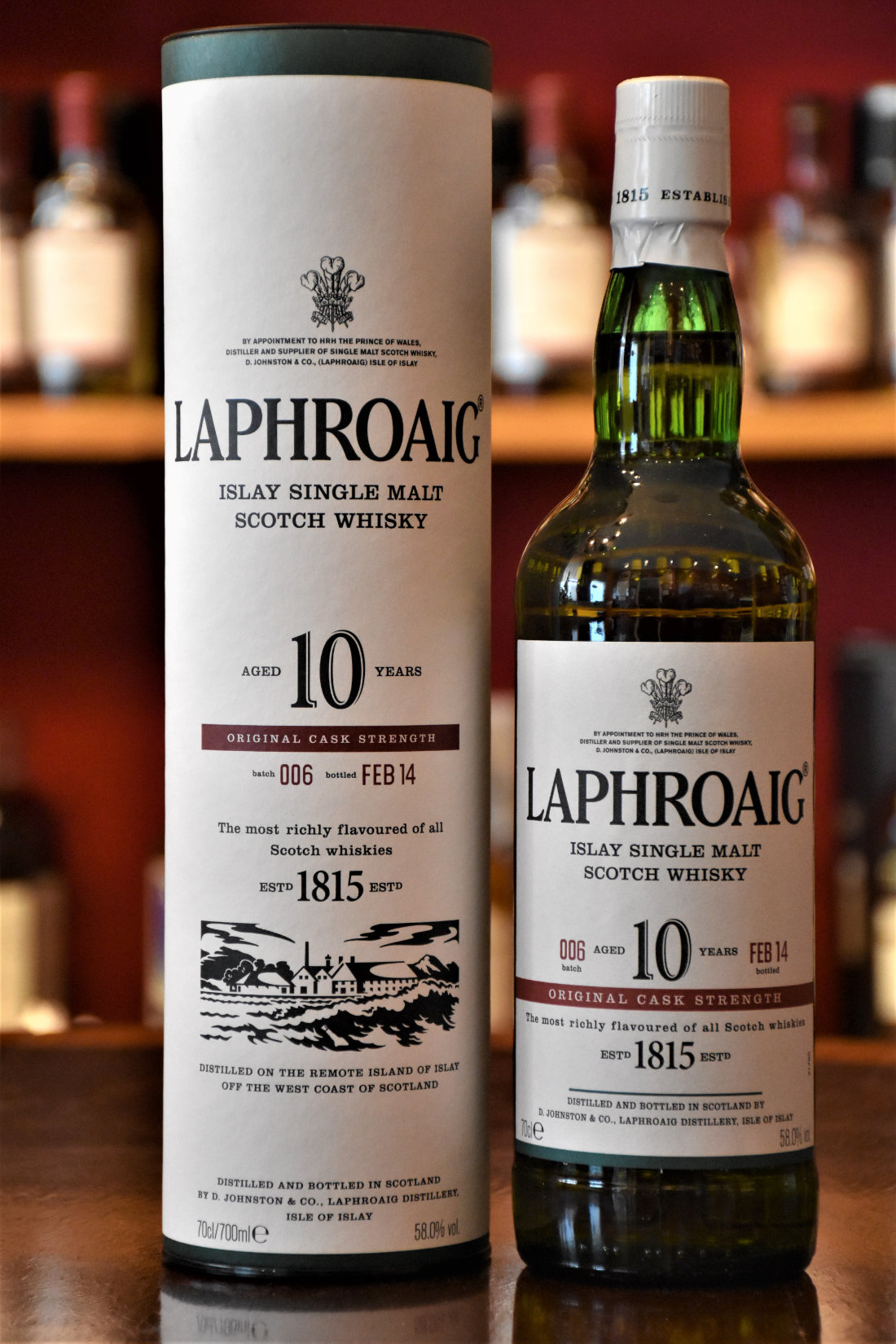 Laphroaig 10 yo Cask Strength Batch No. 006, Febr. 2014, 58% Alc.Vol., Distillery Original Bottling