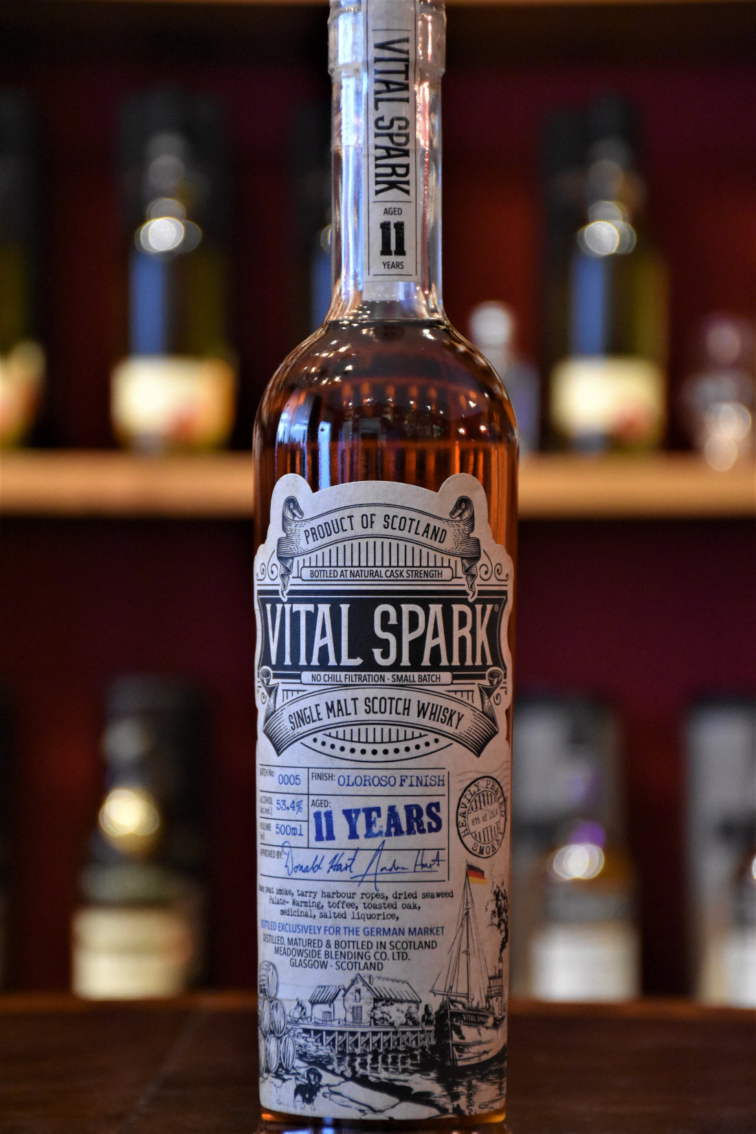 Vital Spark Batch 5, Oloroso Finish, 53,4 %, heavily peated, 0,5 l, The Maltman