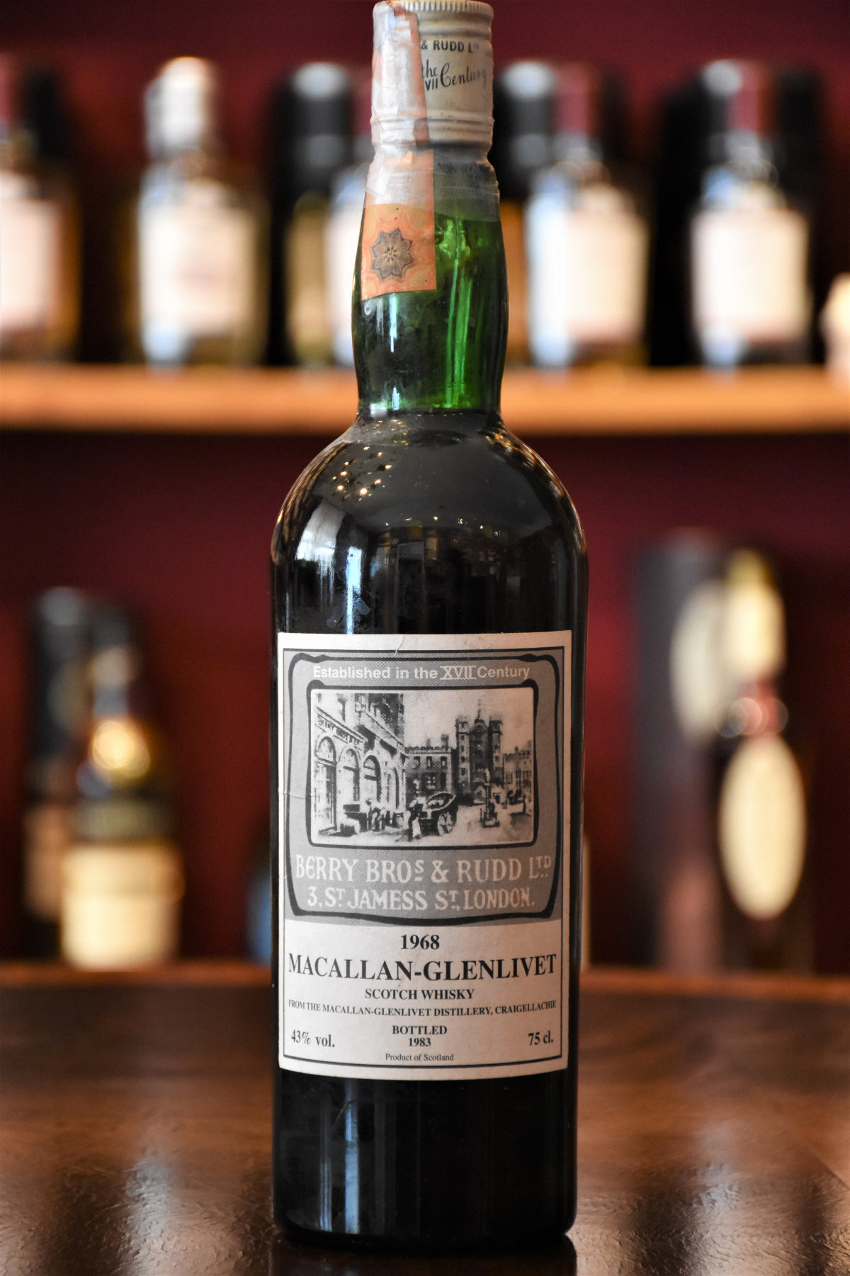 Macallan 1968 Old Bond Street Label Absolute Rarität! 43% Alc.Vol., Berry Bros. & Rudd