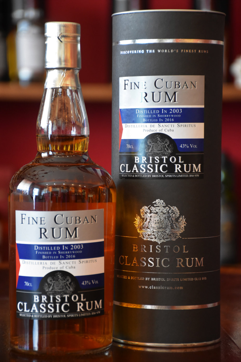 Bristol Fine Cuban Rum 2003/2016 Sherry Finish, 43% Alc.Vol., Bristol Spirits Ltd.