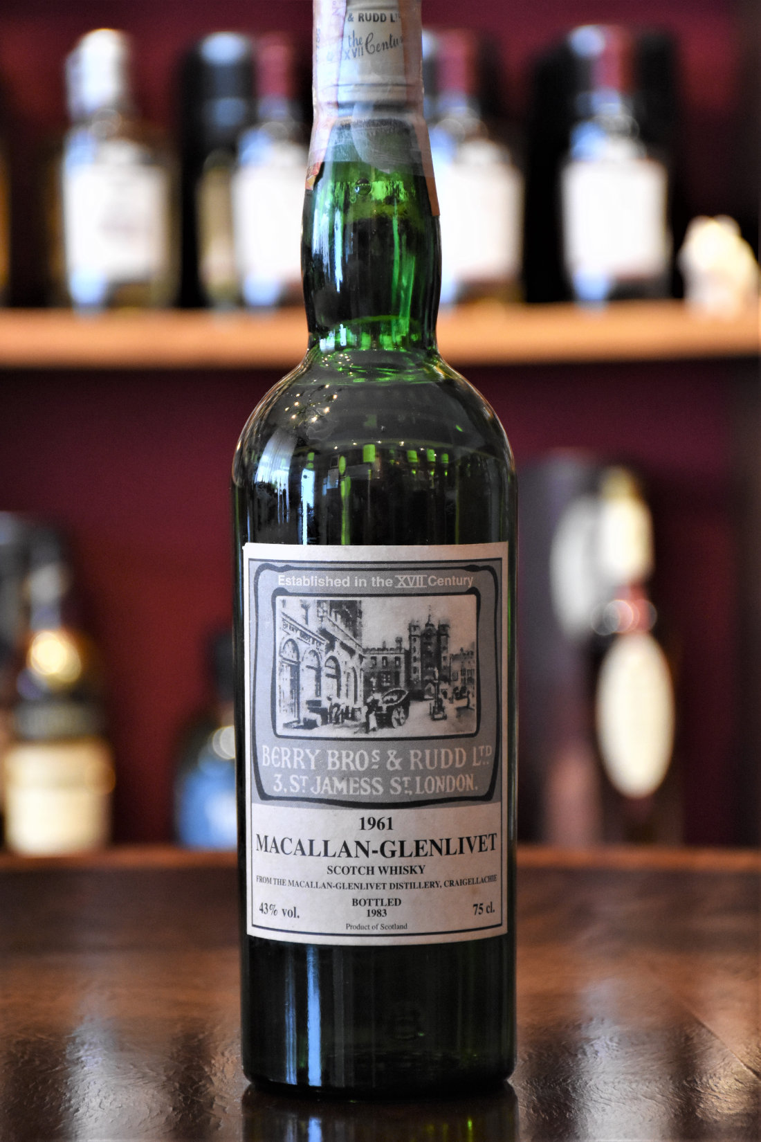 Macallan 1961 Old Bond Street Label Absolute Rarität! 43% Alc.Vol., Berry Bros. & Rudd