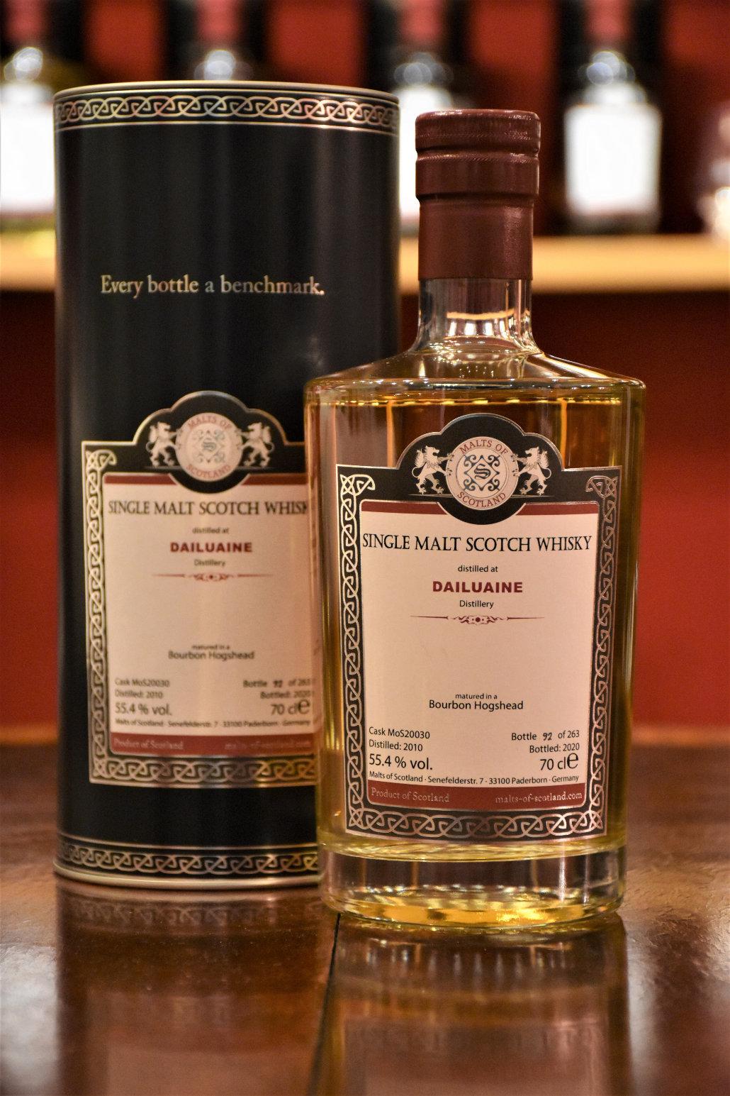Dailuaine 2010 - Bourbon Hogshead, Cask No. MoS20030, 55,4% Alc.Vol., Malts of Scotland