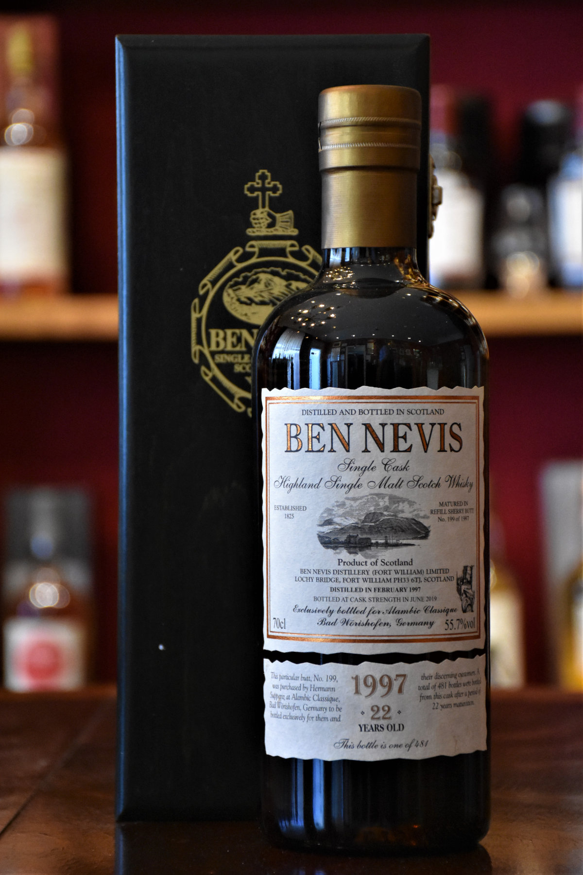Ben Nevis 1997, 22 y.o. - Refill Sherry Butt, Cask No. 19, 55,7% Alc.Vol., Alambic