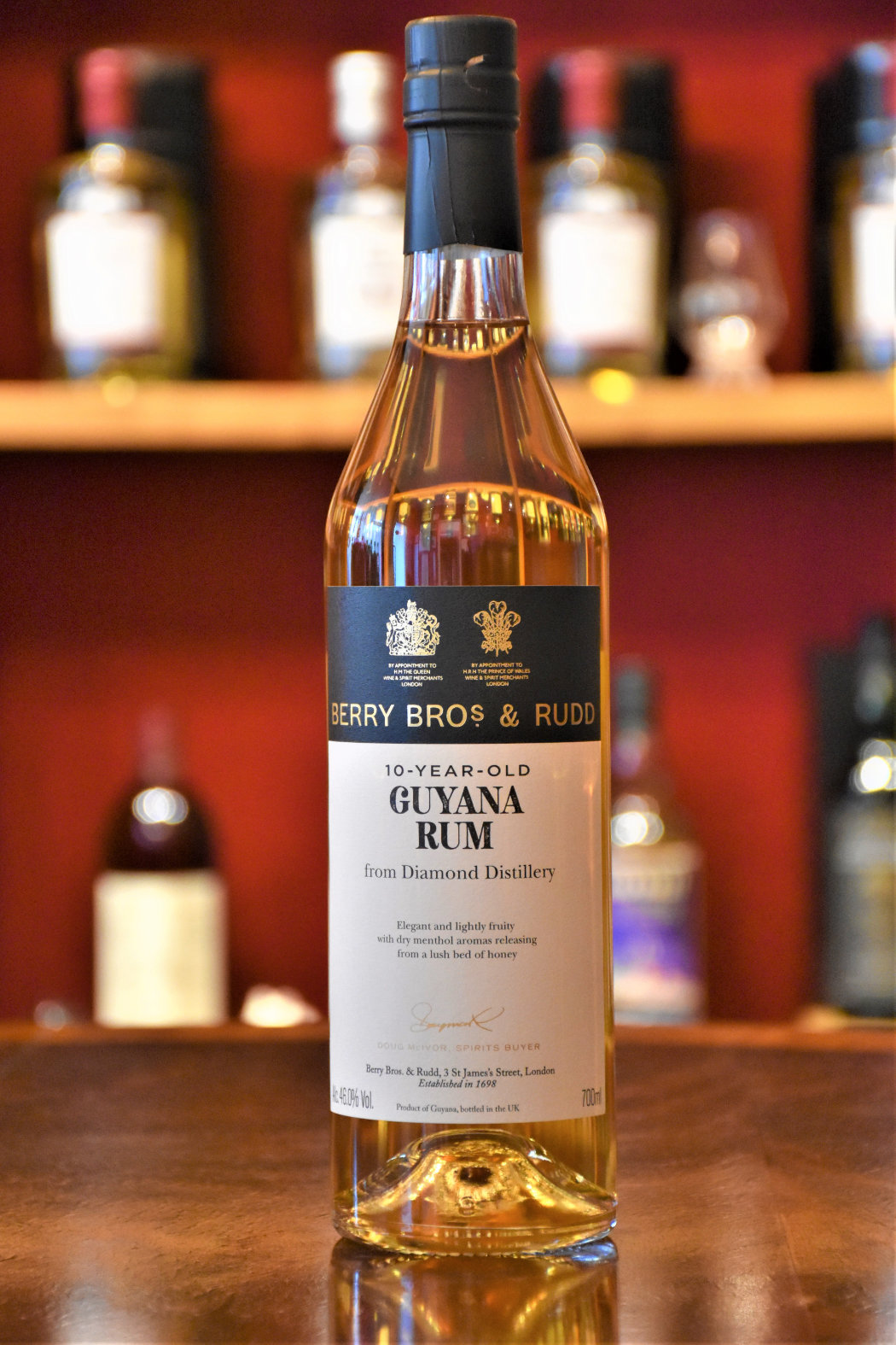 Guyana Rum 10 y.o. - Cask No. 56, Diamond Distillery, 46% Alc.Vol., Berry Bros. & Rudd