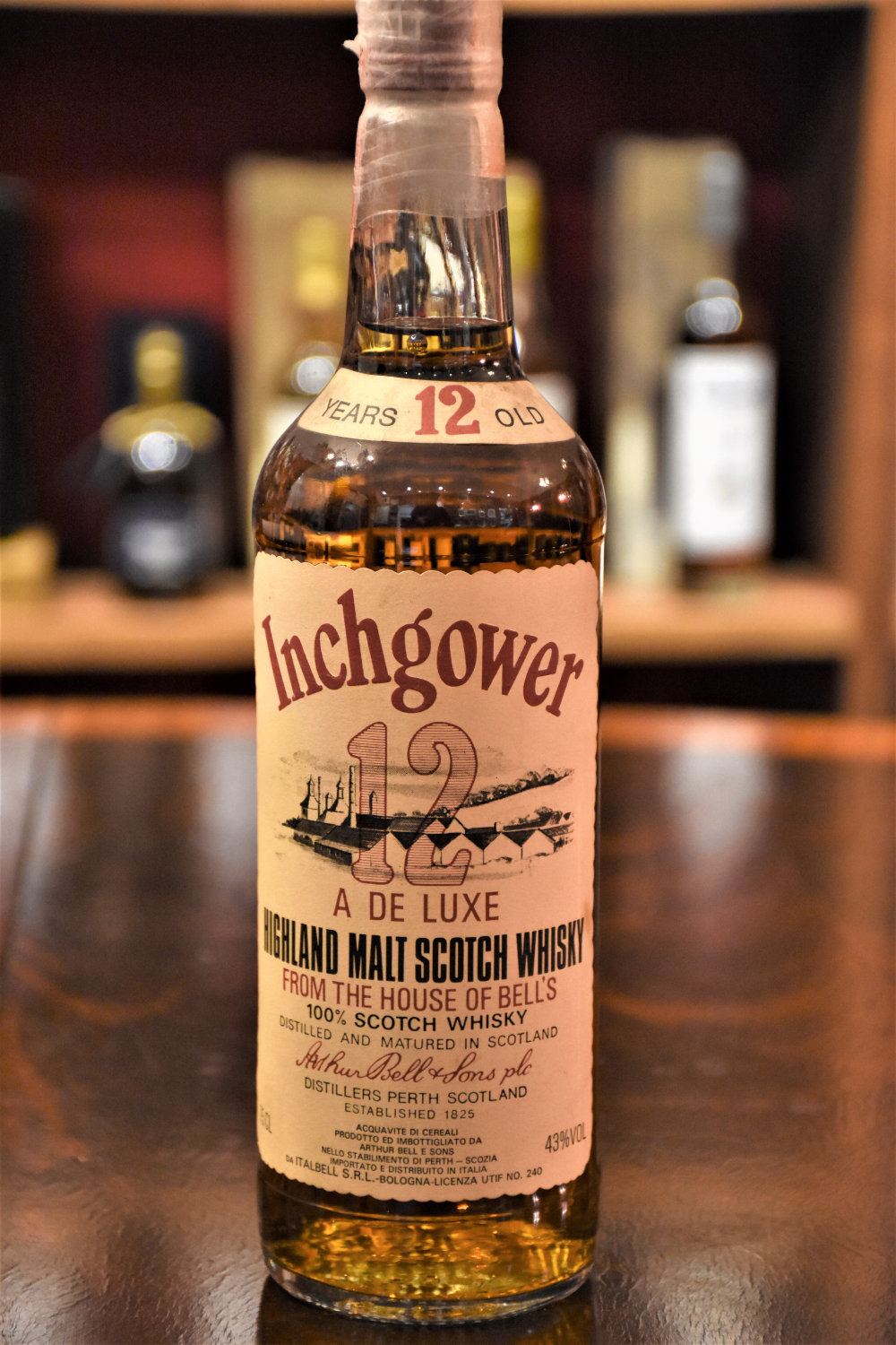 Inchgower 12 y.o. - 43% Vol., Bottling aus den 1970igern