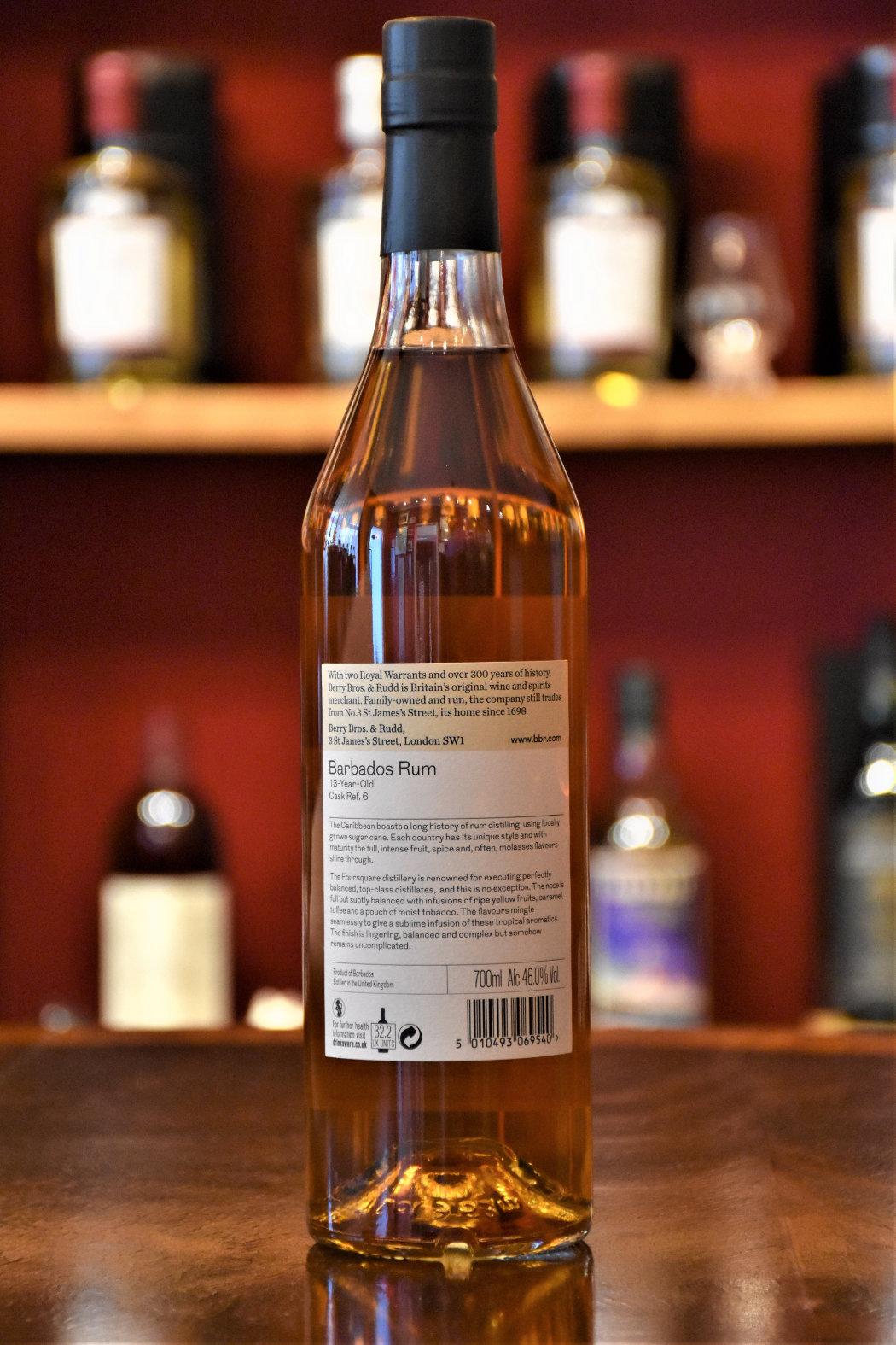 Barbados Rum 13 y.o. - Cask No. 6,Foursquare Distillery,  46% Alc.Vol., Berry Bros.&Rudd