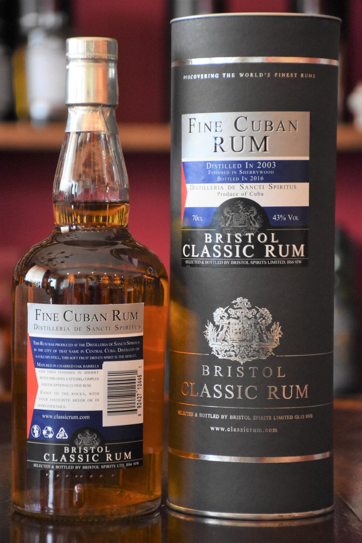 Bristol Fine Cuban Rum 2003/2016 Sherry Finish, 43% Alc.Vol., Bristol Spirits Ltd.