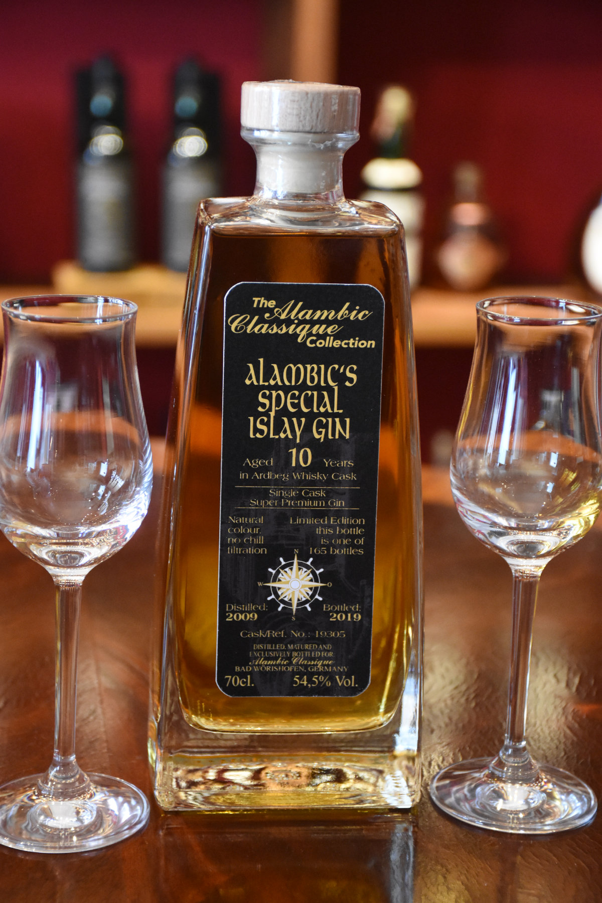 Alambic's Special Islay Gin, aged 10 years, 54,5% Vol., 70cl, The Alambic Classique Collection, Geschenkpackung