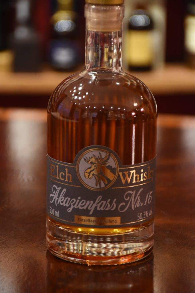 Elch Whisky, Akazienfass Nr. 15, 50,3%  Vol.